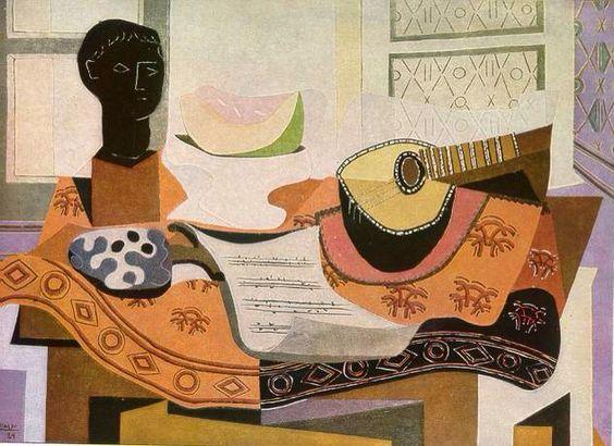 """Pablo Picasso, """"Nature morte au buste noir """""""