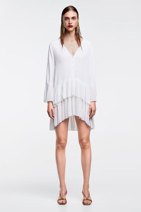 vestidos manga larga volante zara mujer 2017 instagram