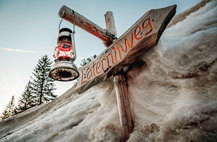 Laternenzauber begeistert die Kinder. Laternliwegbericht in der Schweizer Familie  http://www.saentisbahn.ch/freizeit/winter/laternliweg-schwaegalp.html
