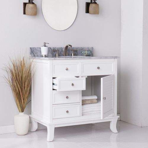 Pier 1 Imports Waterford Marble Top Bathroom Vanity Shopstyle Furniture Single Sink Bathroom Vanity Bathroom Trends Bathroom Top