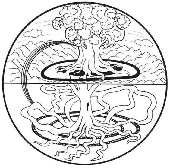 mandala arbre de vie mandala colorier mandalas pinterest mandalas google et recherche. Black Bedroom Furniture Sets. Home Design Ideas