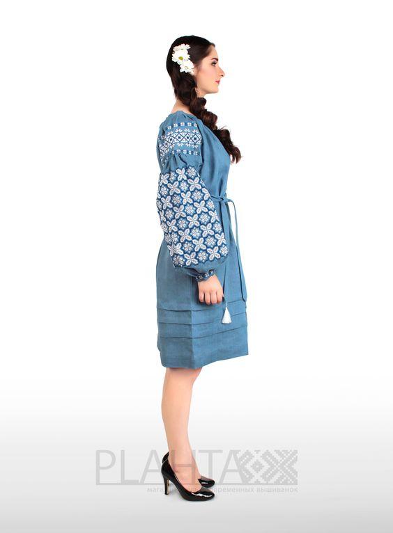 """Платье-вышиванка """"Зоряний Туман"""" - Plahta - магазин-ателье современных вышиванок"""