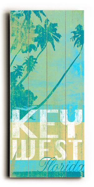 Key West Florida Vintage Beach Sign: Beach Decor, Coastal Home Decor, Nautical Decor, Tropical Island Decor & Beach Cottage Furnishings