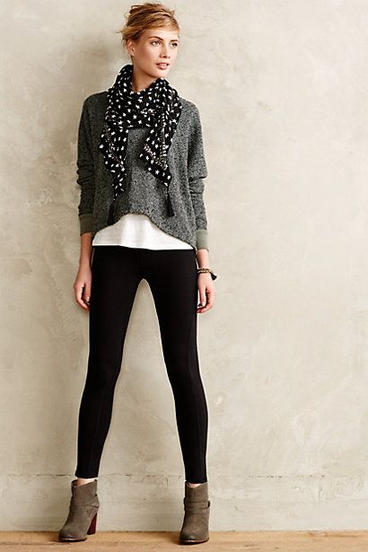 """Pure + Good Ponte Crops - anthropologie.com....also a cute look....although it is close to the """"no no"""" of wearing leggings as pants."""