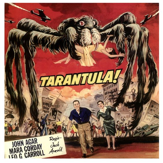 Tarantula, Clint Eastwood made his movie debut in this film. He may be in it all of two minutes.