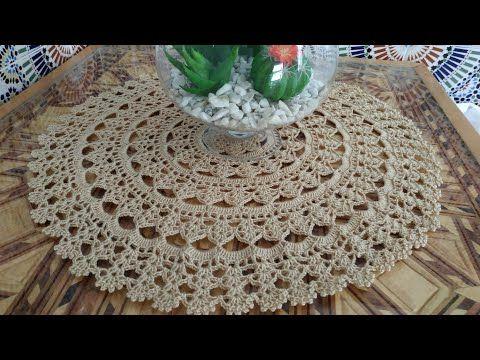 مفرش كروشيه دائري بقياسات مختلفة Youtube Crochet Patterns Crochet Pattern