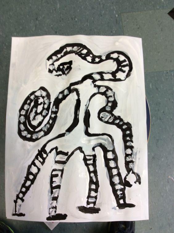 Eu copiei de um desenho feito no caderno.  Por João M.