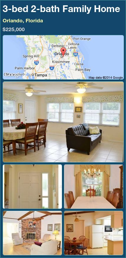 3-bed 2-bath Family Home in Orlando, Florida ►$225,000 #PropertyForSale #RealEstate #Florida http://florida-magic.com/properties/75936-family-home-for-sale-in-orlando-florida-with-3-bedroom-2-bathroom