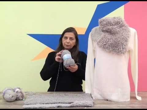 Gola girassol em trico com Cisne Oregon + Cisne Passion por Cristina Ama...