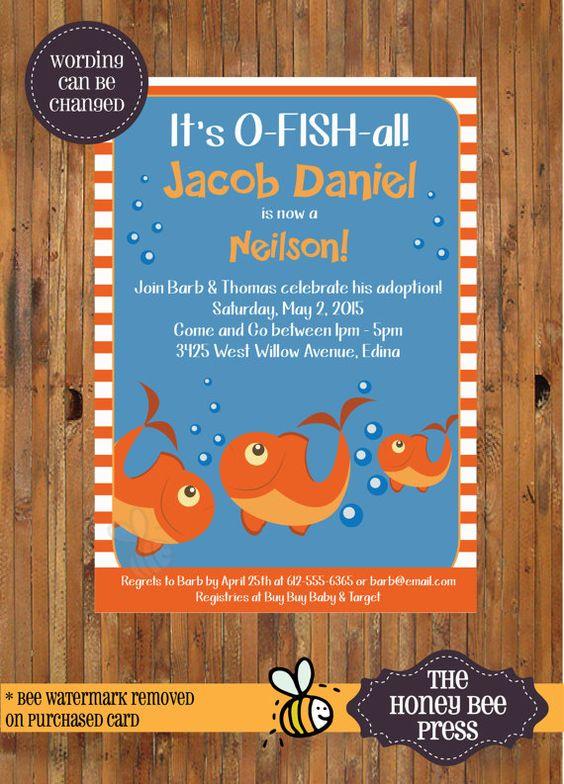 o'fish-ally a family adoption party invitation by paperandbliss, Party invitations