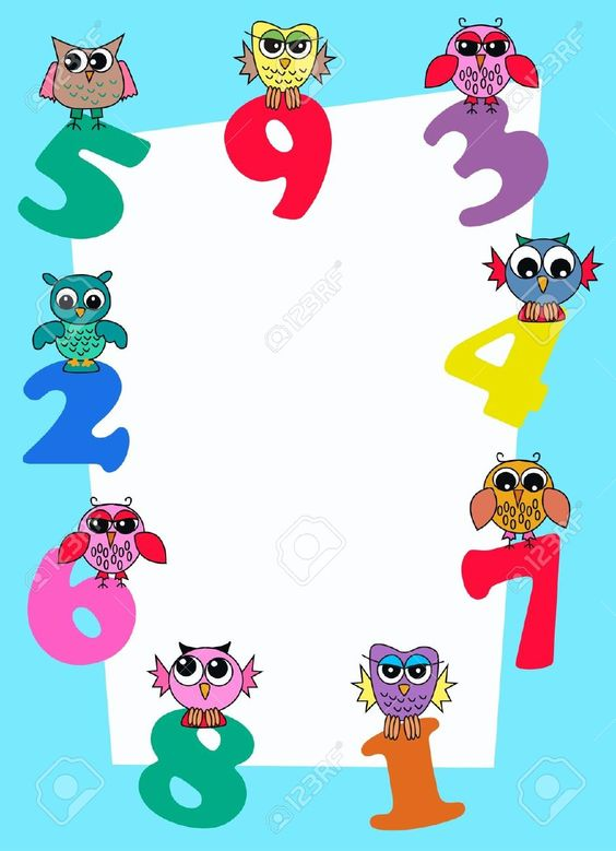 numbers frames - Buscar con Google Printables ...