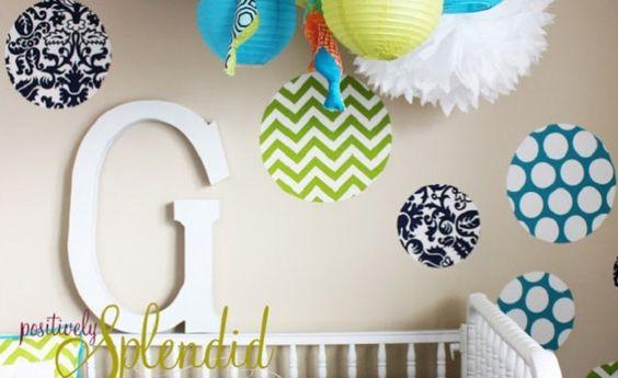 Custom Fabric Wall Decals www.thebump.com #DIY