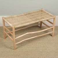 Woven Rope Luggage Bench - love the natural branched/wood
