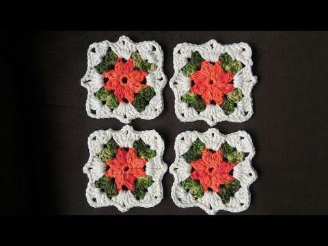 Youtube Caixa De Croche Flor De Croche Simples Bicos De Croche Simples
