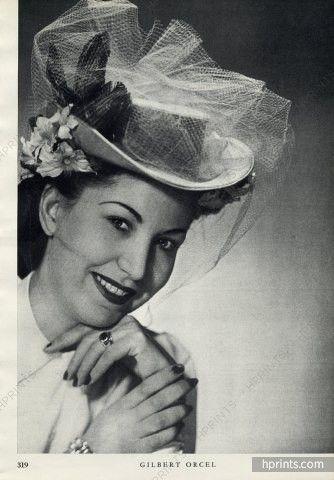 Gilbert Orcel 1946 Hats