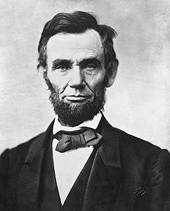 1963 Photo of Abraham Lincoln, the 16th President of the United States, serving from March 1861 until his assassination in April 1865. He successfully led his country through a great constitutional, military and moral crisis – the American Civil War – preserving the Union, while ending slavery, and promoting economic and financial modernization.
