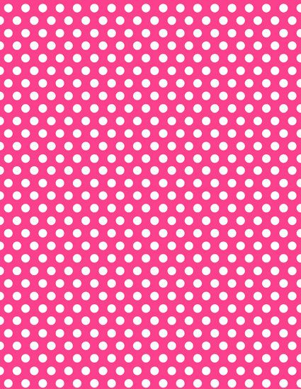 Instant Download Minnie Mouse Hot Pink Polka Dot Background Digital Paper Birthday Party Supplies Pink Polka Dots Background Minnie Mouse Border Minnie Party