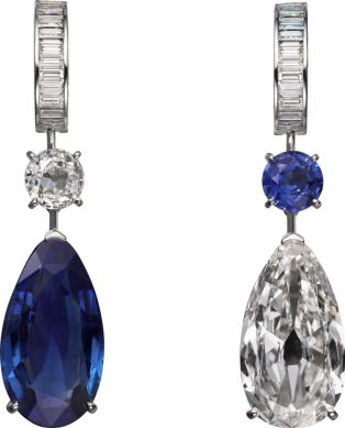 Cartier Magicien High Jewelry Collection Earrings of platinum, sapphires, diamonds (=)