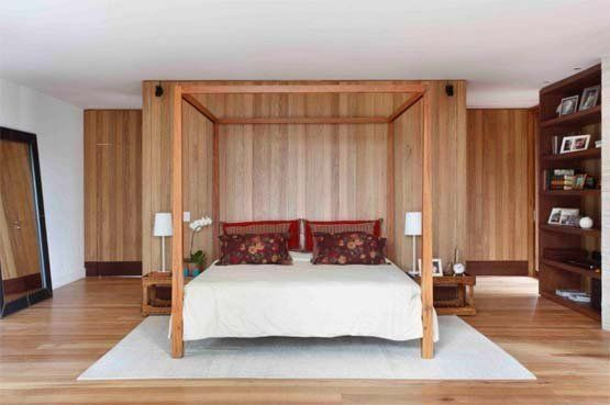 tropical bedroom House in Itaipava by Cadas Arquitetura | Home Architectural Design