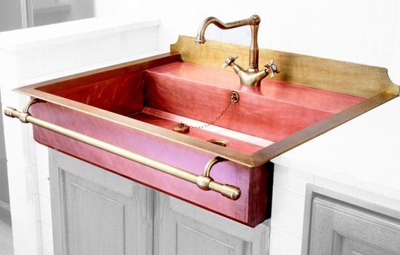 Restart lavello semincasso in rame brunito lavelli - Lavelli cucina acciaio inox prezzi ...