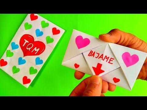 Como Hacer Un Sobre Plegable Para Cartas De Regalo Youtube Regalos De Origami Manualidades Cartas Ideas Para Hacer Cartas