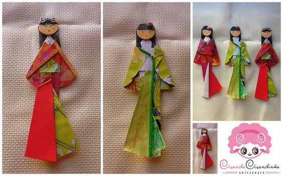 Gueixa Origami (marcador de livro) | Há muito queria fazer e… | Flickr