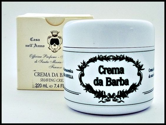 Santa Maria Novella Crema da Barba.  Without a doubt the best shaving cream ever. Lasts me about a year. This is the reason I only buy shaving cream once a year.