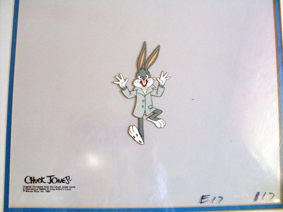 Bugs Bunny Warner Bros Animation Cel Framed by angel9 on Etsy, $450.00