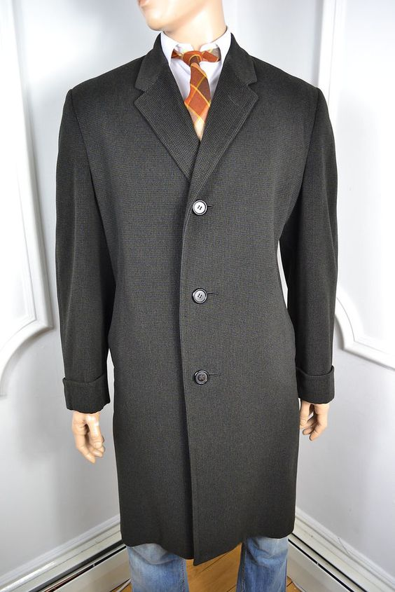 Crombie style overcoat