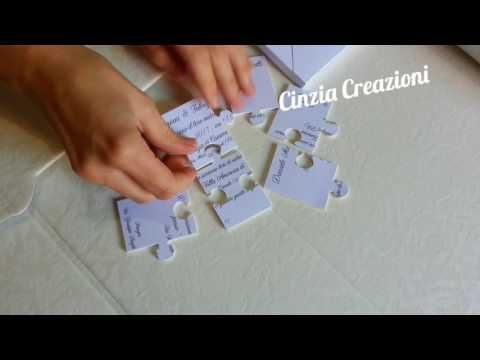 Partecipazioni Matrimonio Puzzle Con Box Scatola Nozze Divertente Originale Youtube Matrimonio Divertente Partecipazione Nozze