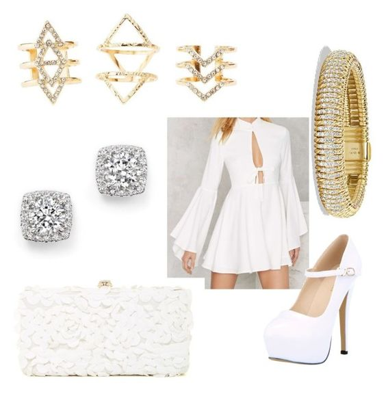 """white"" by phoebeleslie on Polyvore featuring Nasty Gal, Charlotte Russe, Deux Lux, Bloomingdale's and David Yurman"