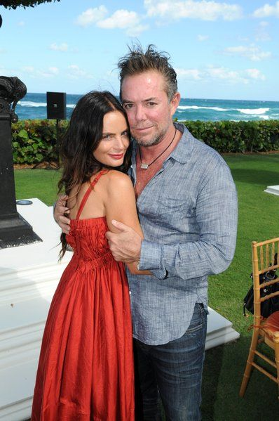 "#BurnNotice star Gabrielle Anwar, left, and Shareef Malnik at Make-A-Wish Southern Florida's ""Garden Party"" at the Palm Beach estate of Al and Nancy Malnik; photo by Manny Hernandez."