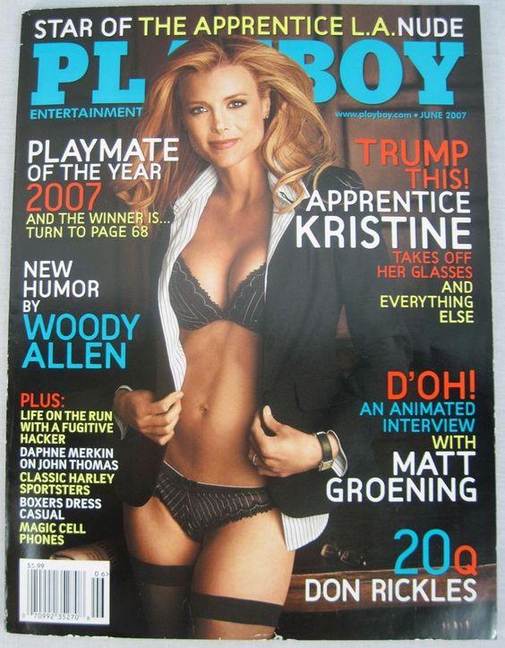 #PLAYBOY MAGAZINE JUNE 2007 #KRISTINELEFEBVRE #THEAPPRENTICE #MATTGROENING NO LABEL