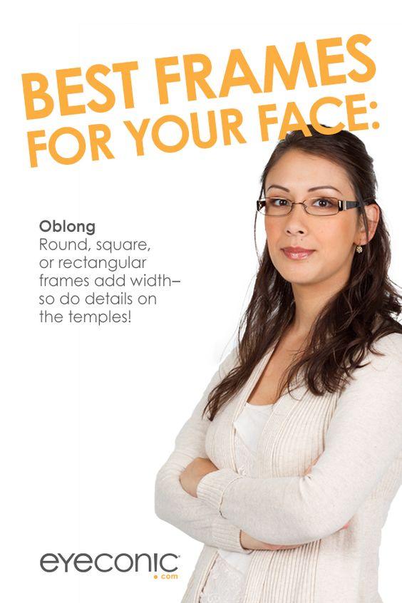 Best Glasses Frame For Oblong Face : Oblong Face Shape: Round, square, or rectangular frames ...