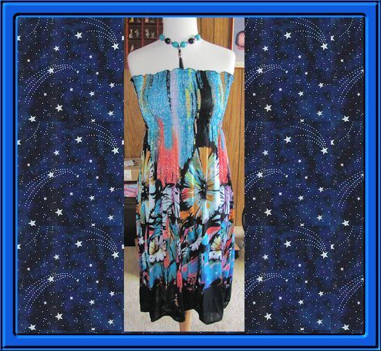 Ladies Beaded Halter Sundress Brand New Size XLarge Gathered Bodice #Fashion #Halter #Any