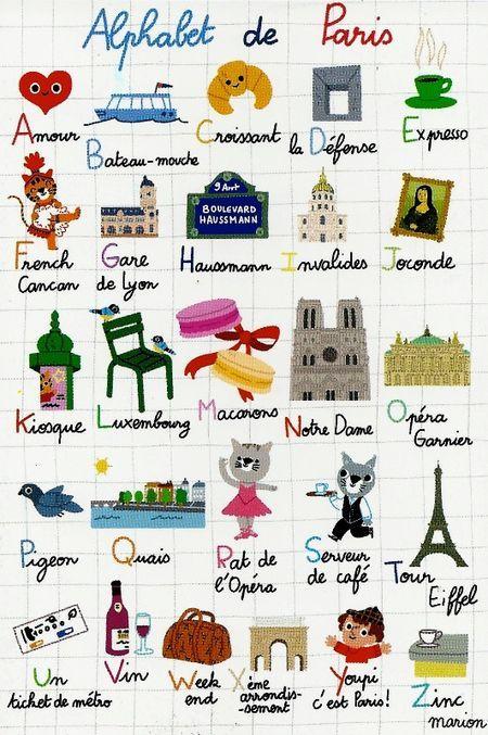 Paris-alphabet #rentrée #paris  1000et1paris.com est fan ! La location meublée pour les étudiants aussi :-)