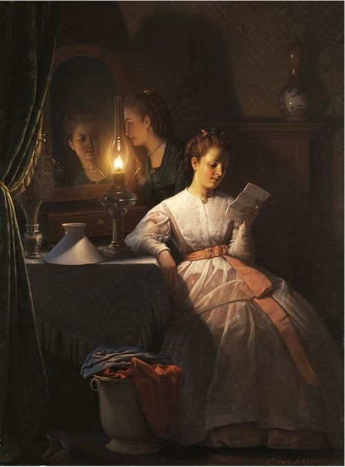Petrus van Schendel (1806 - 1870) -The Love Letter  Art, posters and prints of a woman or women reading repinned by www.AboutHarry.com