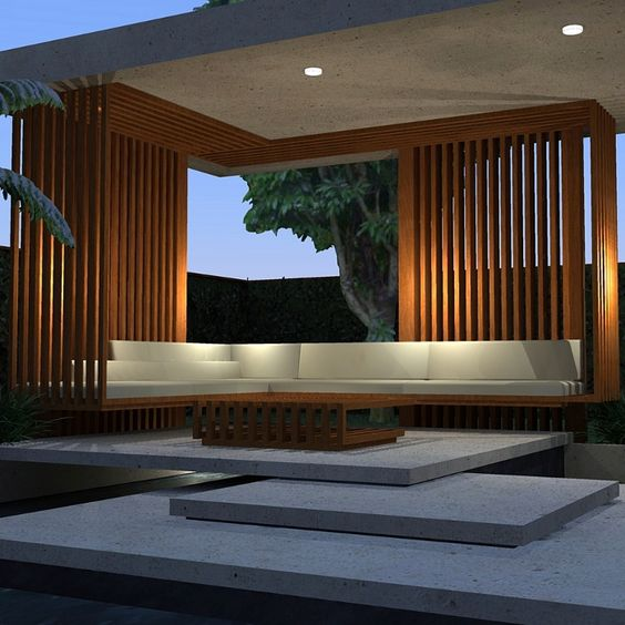 contemporary pergola pavilion landform consultants. Black Bedroom Furniture Sets. Home Design Ideas
