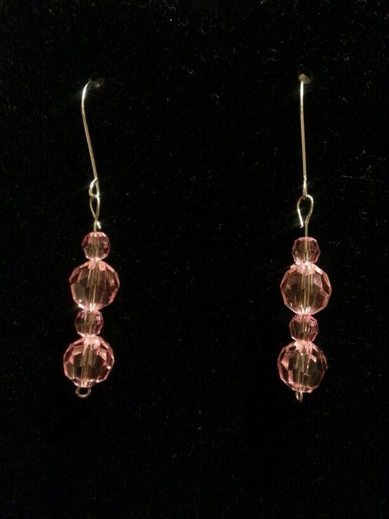 Pink Rock Candy earrings