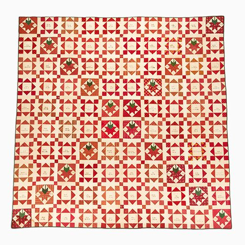 Signature Quilt – Pieced – New Garden Friendship | Mingei / c. 1840 Gift of Pat L. Nickols