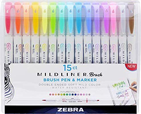 Zebra Mildliner Brush Pens Highlighters