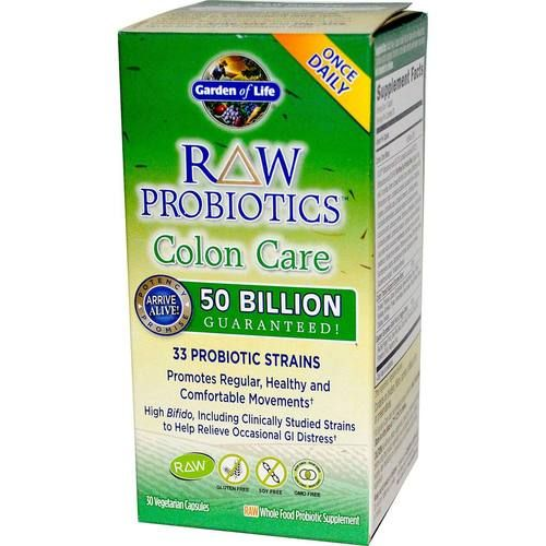 Garden Of Life Raw Probiotics Colon Care 30 Vegetarian Capsules Evitamins Uk Probiotics Colon Care Veggie Caps