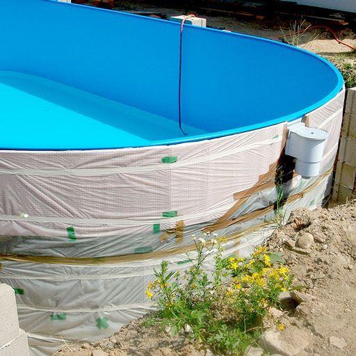 Ovalpool Aufbau Baufolie Und Styroporplatten Anbringen Garten Sauna Diy Aufbau Von Stahlwand Pools In 9 Schr In 2020 Garten Pool Selber Bauen Gartenpools Ovaler Pool