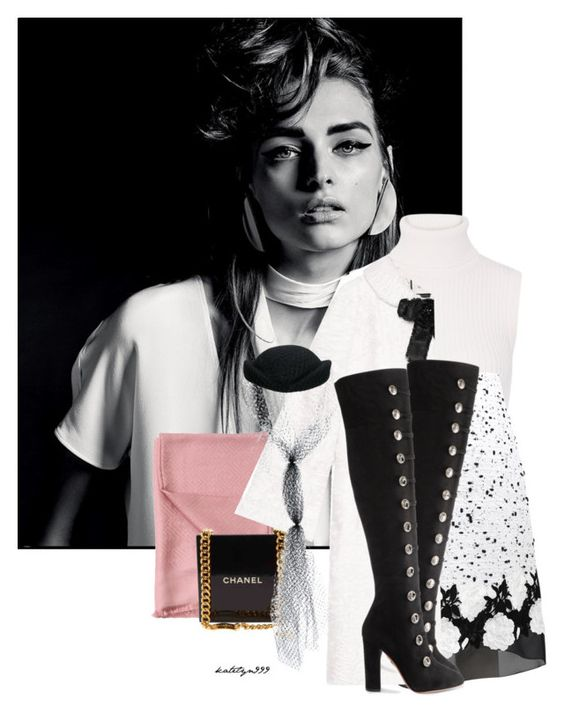 """""""The night is still young..."""" by katelyn999 ❤ liked on Polyvore featuring Magdalena, Michael Kors, Giambattista Valli, Fendi, Chanel, Gucci and Aquazzura"""
