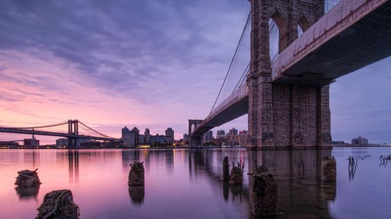 Find out: Purple Sky Brooklyn Bridge wallpaper on  http://hdpicorner.com/purple-sky-brooklyn-bridge/