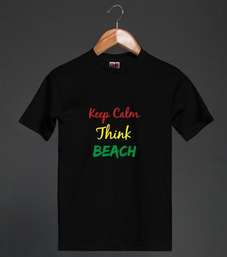 Reggae Keep Calm Think Beach Tee | Heavyweight T-shirt  #skreened #reggae #tees