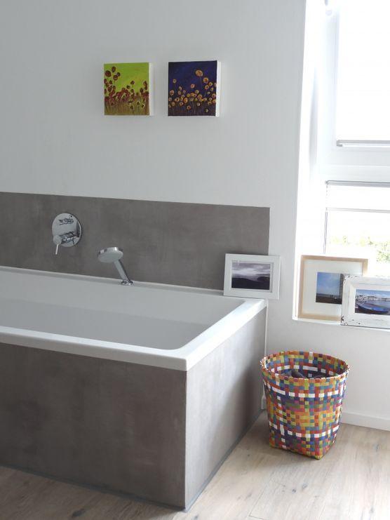 Grau Liebt Bunt Mit Bildern Badezimmer Badewanne Fliesen Kleine Badewanne