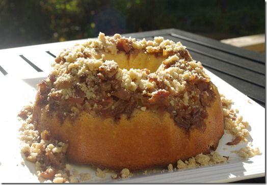 Alternative to traditional pie?  Two Caramel Apple Bundt Cake