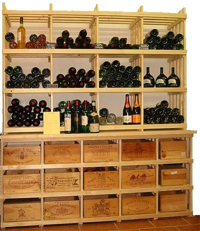 Casiers pour bouteilles casier vin cave vin rangement - Caisse de vin vide gratuite ...