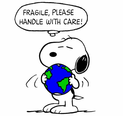 Snoopy Cares for Planet Earth